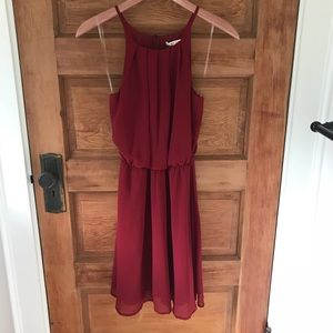 NWT Red sleeveless dress